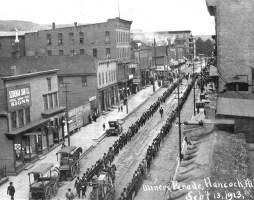 1913, Hancock, Michigan, Corteo di minatori in sciopero