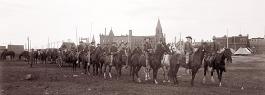 1913, Reparti a cavallo della Guardia Nazionale del Michigan, in occasione degli scioperi nelle miniere di rame.