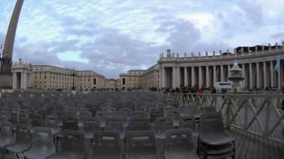 Piazza San Pietro il giorno prima