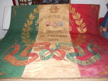 La bandiera delle Società del Circondario di Tortona 1871