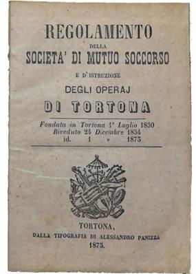 1873 - Regolamento Sociale